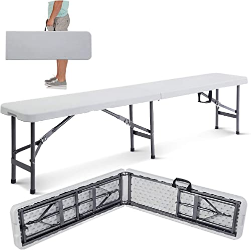 popular Giantex 6' 2021 Folding Bench outlet sale Portable Plastic in/Outdoor Picnic Party Camping Dining Seat outlet online sale