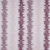 englisch dekor Dekostoff Vorhangstoff Streifenmuster lila