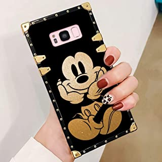 DISNEY COLLECTION Mickey Case for Samsung Galaxy S8 Luxury Square Edges Phone Cover Shock Bumper