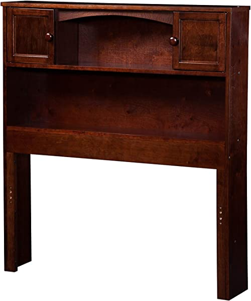 Atlantic Furniture AR285824 Newport Bookcase Headboard Twin Walnut