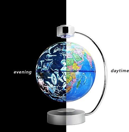 BAIVIN Magnetschwebebahn Konstellation Globus 20 cm Leuchtendrehung Weltkugel Dekoration Bildung Kinder Geschenke