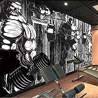 MAZFカスタマイズされた大きな3D壁紙ツーリングレトロプランクスポーツジム画像壁リビングルーム寝室の背景壁紙