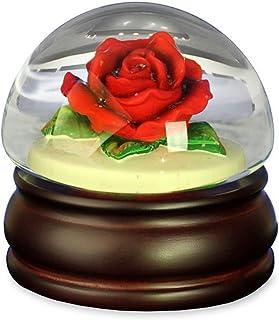 Image of Beautiful Red Rose Musical Water Globe
