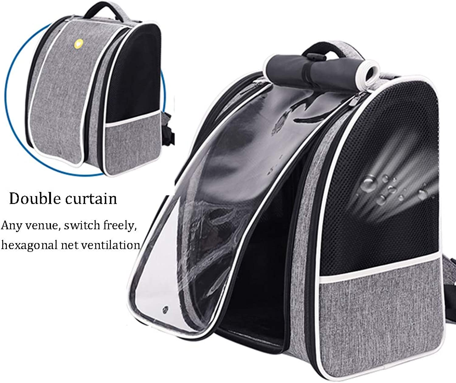 Pet Backpack,Deluxe Pet Carrier Backpack for Small Cats and Dogs,Puppies Ventilated Design,TwoSided Entry,Safety Features and Cushion Back Support for Travel