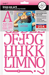 Best pink iron on letters Reviews