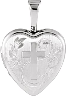 15mm x 16mm Mia Diamonds 925 Sterling Silver Solid Heart with wings Charm