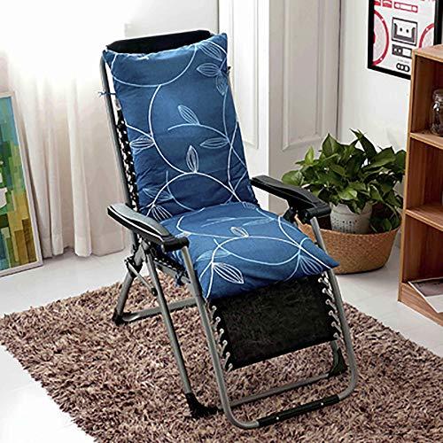 ZZPP Cojín para Tumbona,cojín reclinable Grueso extraíble y Lavable,cojín reclinable para jardín al Aire Libre Suave y cómodo (125 * 48 * 10 cm)
