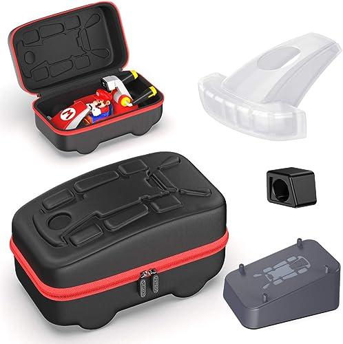 Accessories Kit Bundle Compatible with Nintendo Switch Mario Kart Live, OIVO Kart Case, Kart Mount Holder, Kart Head ...