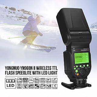 YONGNUO YN968N II Wireless TTL Flash Speedlite 1/8000s HSS Built-in LED Light 5600K for Nikon DSLR Cameras Compatible with...