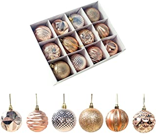 XINdream 12 PCS Christmas Xmas Tree Hanging Ball, Diameter 5.5cm Hanging Ball Bauble Home Party Ornament Decor Wedding Bar Gift Party Shatterproof Pendant Decorations