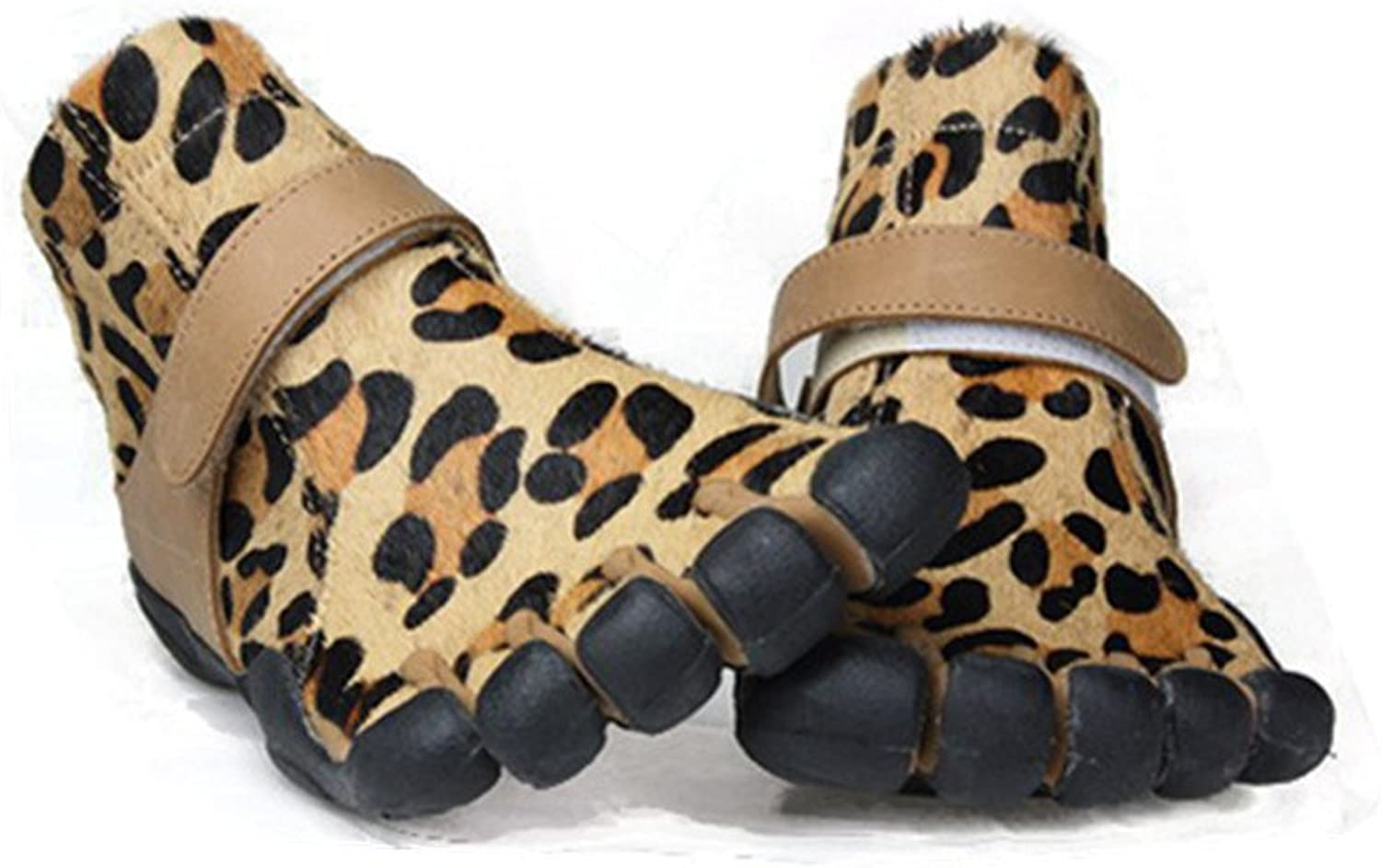 5Toe Women's Sexy Leopard Five Fingers Boots Horse Hair Leisure shoes for Boating Fishing Biking