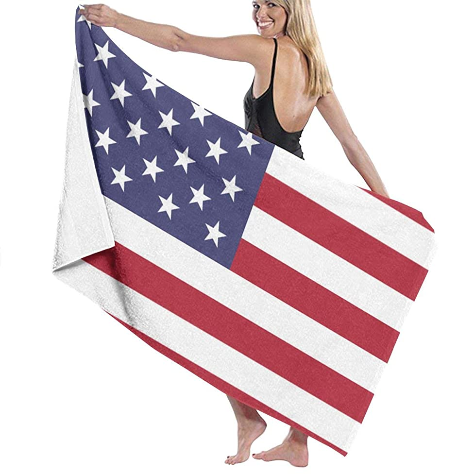 Fleavmei United States Flag USA 31x51 Inch Microfiber Soft Pool Beach Bath Towel- Super Absorbent