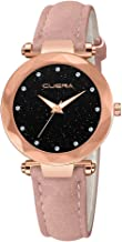 Women Quartz Watches,Fudule Rhinestone Wristwatch Analog Watches for Women with Leather Band Fashion Ladies Dress Watch Clearance