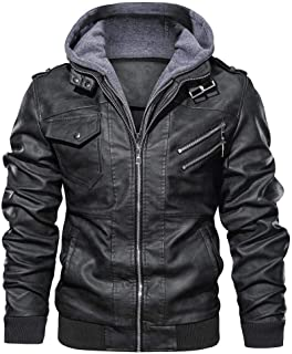 Jotebriyo Mens Drawstring Pockets Gothic Detachable Pullover Hoodie Sweatshirt