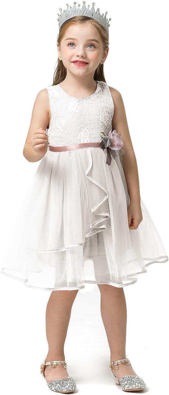 NNJXD Little Girl A-line Dress Floral Print Sundress Princess Dresses