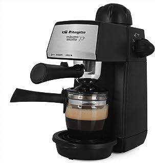 Orbegozo EXP 4600 - Cafetera a presión, 5 BAR, vaporizador, 2 a 4 tazas de capacidad, cucharilla dosificadora, jarra de cr...