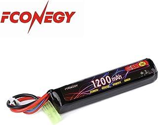 FCONEGY 3S 11.1V 1200mAh 20C 一本型 リポ バッテリー/Lipoバッテリーパック エアガン 電動ガンに適用 専用電池 小型タミヤプラグ付き