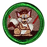 Cat Herding Novelty Merit Badge - 1.5' Embroidered Patch with Adhesive Backing