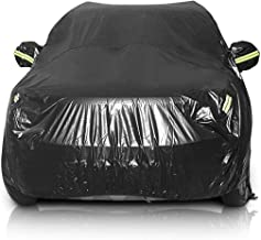 Sailnovo Car Cover, SUV Protection Cover Waterproof Windproof All Weather Scratch Resistant Outdoor Breathable Dust Proof Universal Fits up to (191''Lx75''Wx73''H)