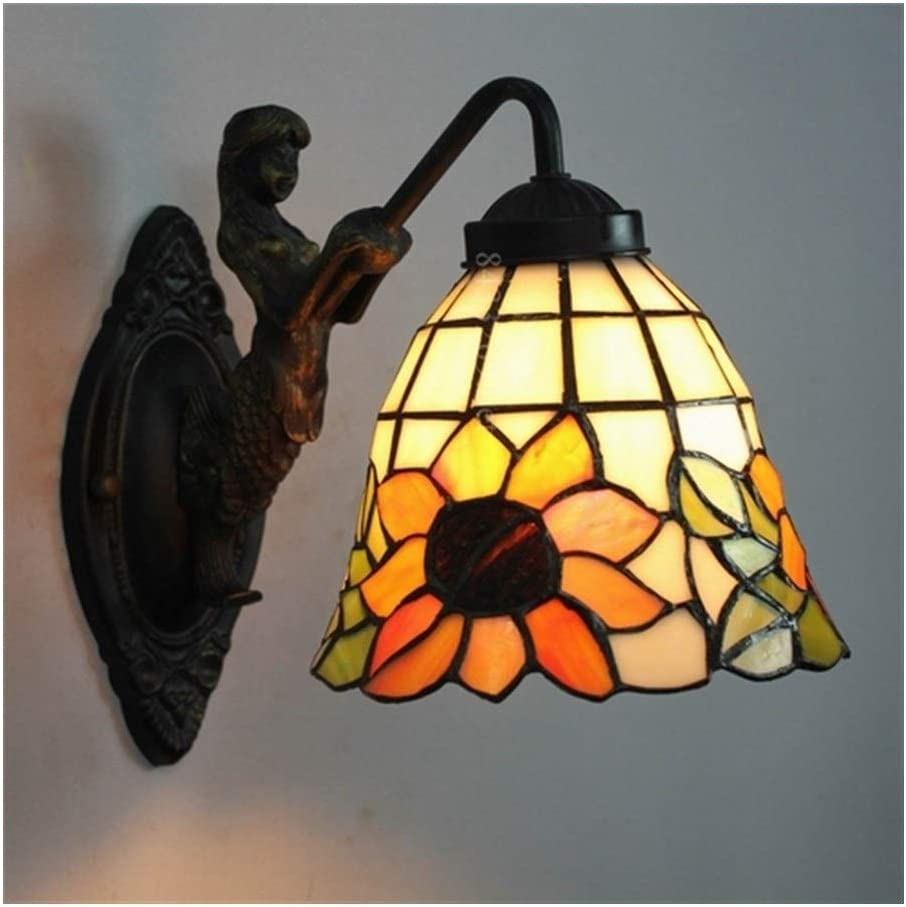 Bright Atmosphere Handmade Wall Lamp Regular discount Max 64% OFF L 8inch Glass Stained with