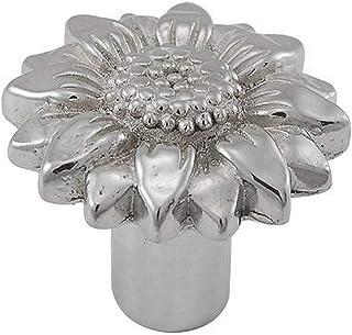 Vicenza Designs K1074 Carlotta Daisy Knob, Large, Polished Silver