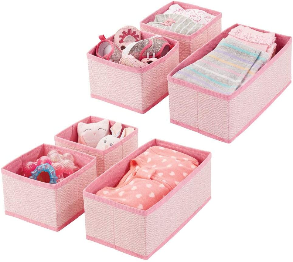 mDesign Soft Fabric Translated Dresser Drawer Philadelphia Mall Organizer and Closet Storage
