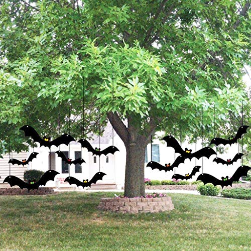 Scary Halloween Tree Decoration Hanging Bats