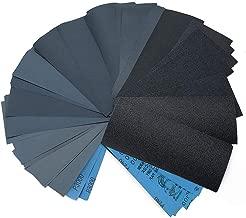 90pcs Wet Dry Sandpaper Assortment for Wood Furniture Finishing, Metal Sanding and Automotive Polishing,400/600/800/1000/1200/1500/2000/2500/3000 Grit