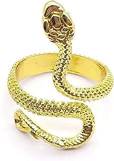 خواتم ثعبان من هوساي للنساء خاتم على شكل جمجمة قابل للتعديل خاتم الافعى اسود للرجال مجموعة الخاتم القوطي