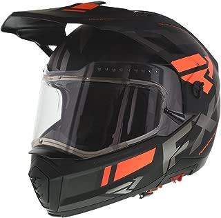 FXR Maverick Modular Team Helmet - Electric Shield - Orange/Black/Charcoal - LRG