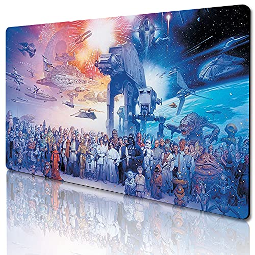 584822 - Star Wars Mouse Pad Fashion Laptop XXL Computer Mouse Pad Gaming Mouse Pad High-Definition Non-Slip Pad Desk Keyboard Play Pad (23.6 x 13.8 inches / 60 x 35cm)