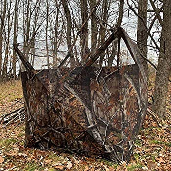 THUNDERBAY Portable Quick Setup Lightweight Camouflage Pop Up 3-Sided Ground Hunting Blind