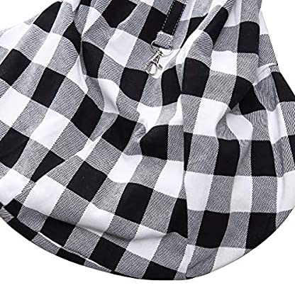 ChezAbbey Dog Sling Carrier Hand Free Reversible Pet Doggie Papoose Bag Kitty Soft Pouch and Tote Bag Design Puppy Adjustable Shoulder Bag Outdoor Travel Sling Bag Carrier for Dogs Cats Rabbit 5