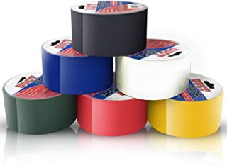 Duct Tape Multi Pack Colors Set of 6 Rolls - Decorative Colored Duct Tape Variety Pack as Colorful Printed Duct Tape Craft...