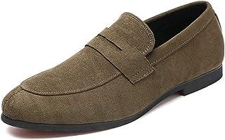 94627d33bed33e Mocassini Estivi per Uomo Scarpe Casual in Pelle Scamosciata Tinta Unita  Slip On Shoes Taglia 48