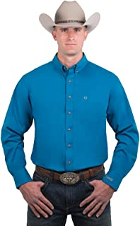 Noble Outfitters Men's Nobel Solid Button Down Long Sleeve Shirt Blue