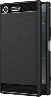 Case for Sony Xperia XZ Premium (5.5 inch) Soft Silicon Luxury Brushed with Texture Carbon Fiber Design Protection Cover (...