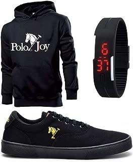 Kit Tênis Masculino Polo Joy C/Moletom e Relógio Digital
