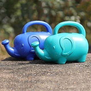 EORTA 2 Pack Plastic Watering Can Cute Cartoon Elephant Watering Pot for Gardening Indoor Outdoor Beach/Bath Supply, Blue ...