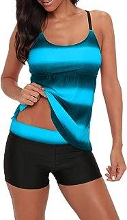 Womens 2 Piece Swimdress Plus Size Skirted Bathing Suit for Women Slimming Swimwear Tankini Swimsuit Swim Dress