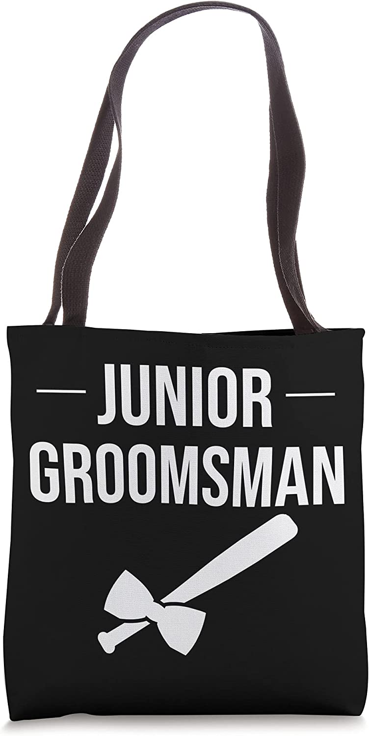 Funny Junior Groomsman Cool Baseball Gift Max 79% OFF Player Bachelor Tote New products world's highest quality popular