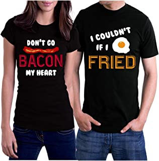 Funny Matching Shirts for Couples, T-Shirts Set for Couple Gift
