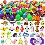 200 Pcs Prefilled Colorful Easter Eggs w/Toys and Stickers Premium Hinged 2 3/8' for Kids Basket Stuffers Fillers, Easter Hunt Game, Toys Filling Treats and Easter Theme Party Favor