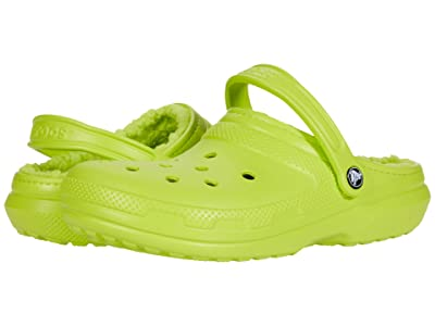 Crocs Classic Lined Clog (Lime Punch/Lime Punch) Clog Shoes