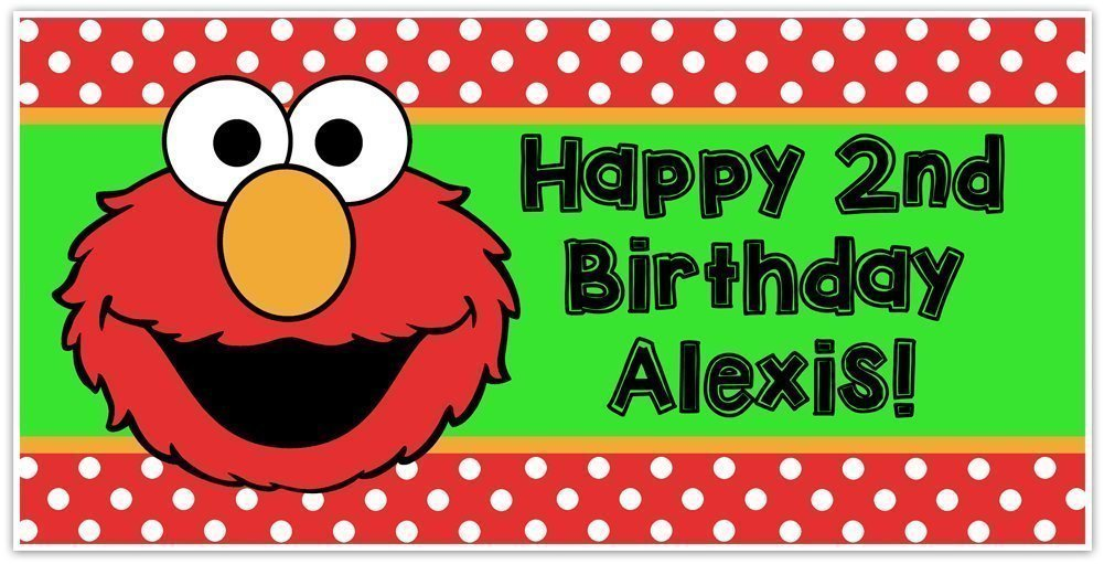Selling rankings Choice Elmo Sesame Street Birthday Banner D Personalized Party Backdrop