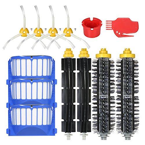 Decdeal 13pcs Kit de acessórios de substituição para o iRobot Roomba série 600 690 691 694 650 651 664 615 601 630 Aspirador