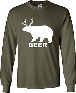 Bear + Deer = Beer Funny Drinking Long Sleeve T-Shirt Beer