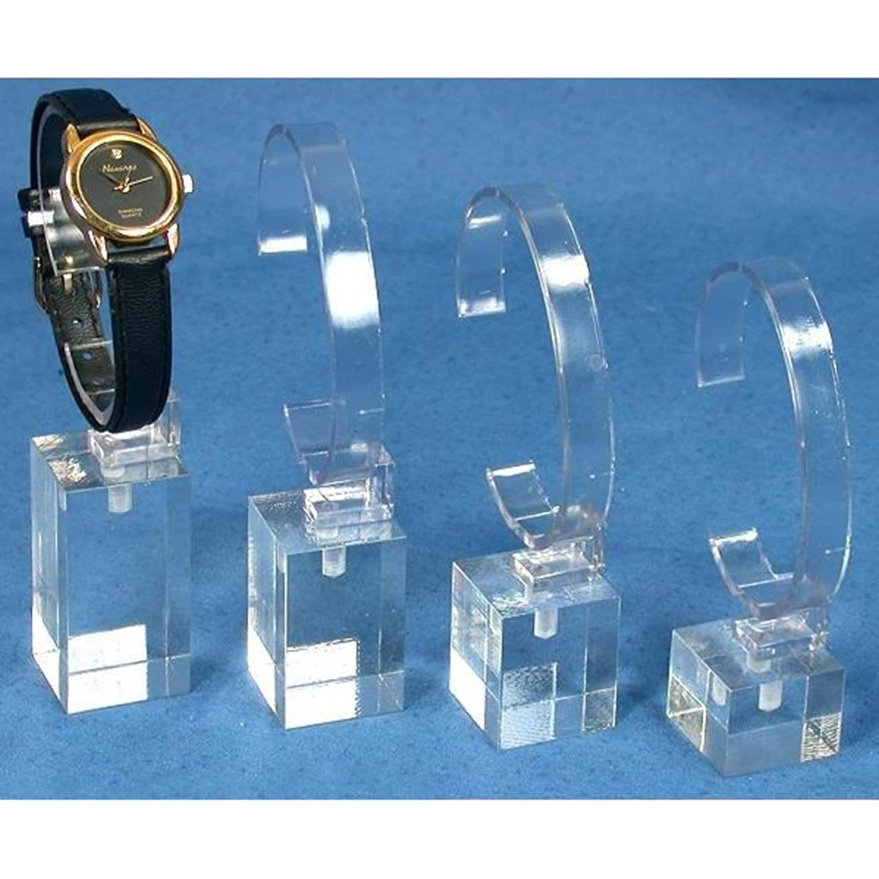 4 Watch Stands Acrylic Showcase Riser Jewelry Display