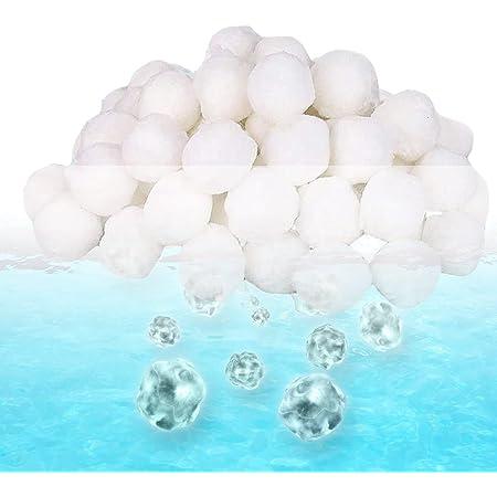 EXTSUD Boules de Filtre de Piscine 700g, Balles Filtrantes Réutilisables pour Piscine, Filtres à Sable et Filtrage de l'eau