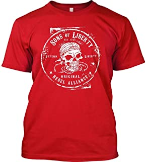 Sons Of Liberty Original Rebel Alliance : T-Shirt Front Print - Made in USA.